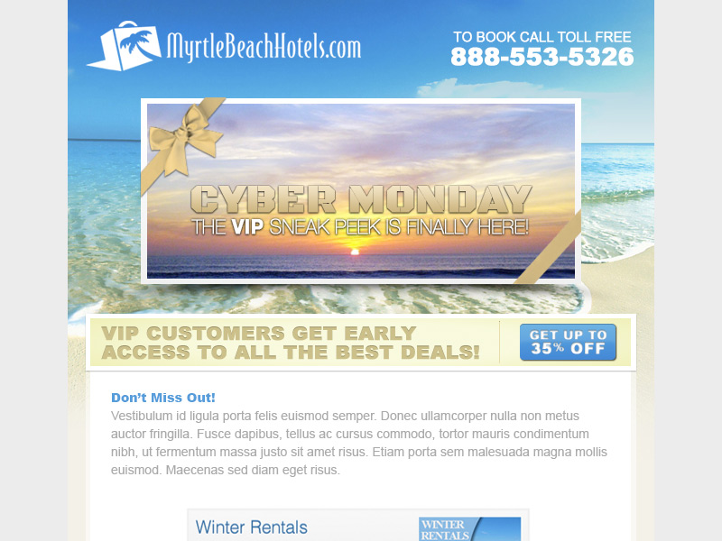 Myrtle Beach Hotels Cyber Monday